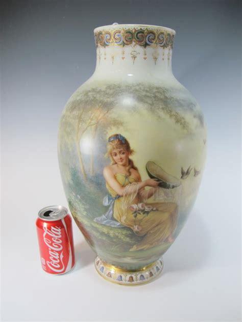 European Vases by Antique European Painted Opaline Glass Vase