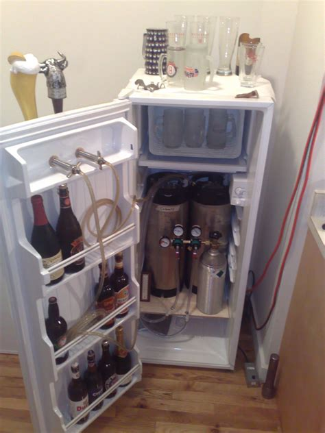 build your own refrigerated wine diy beer keg fridge diy do it your self