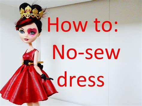 How To Make A Doll Dress Out Of Paper - how to make a no sew dress for dolls by eahboy