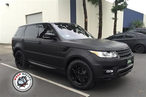 land rover matte range rover sport wrapped in 3m deep matte black wrap bullys