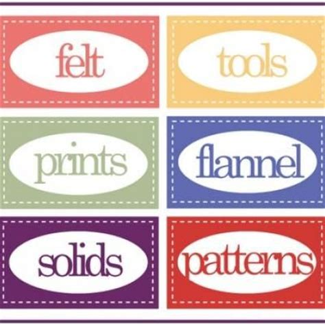 printable fabric stickers printable sewing room labels great labels for the craft