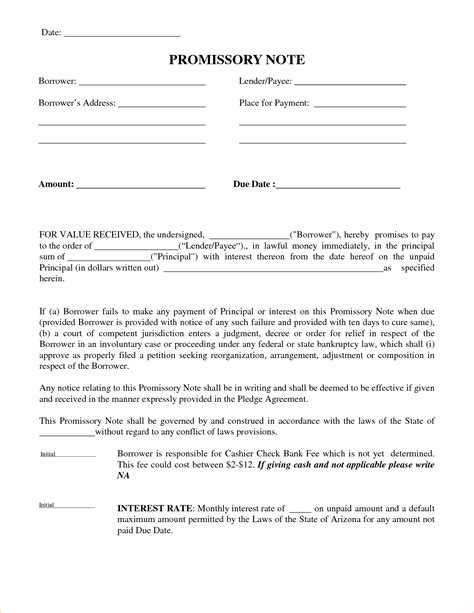 Agreement Letter To Pay Back Money 5 Promise To Pay Templatereport Template Document Report Template