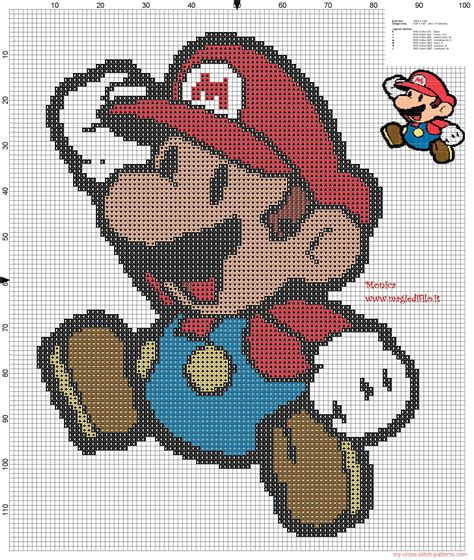 simple pattern online games mario bros cross stitch pattern free cross stitch