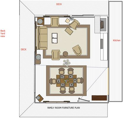 family room floor plan road map for a room makeover