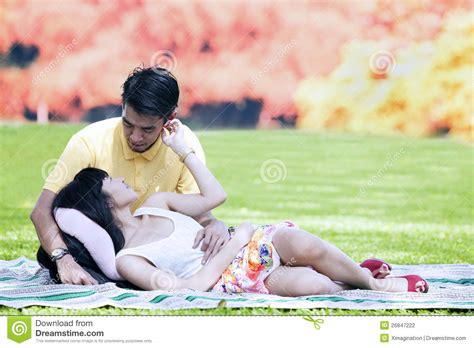 photography lovers romantic lovers on autumn day stock photo image of green