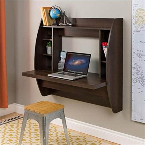 prepac wall mounted floating desk with storage in black prepac wall mounted floating desk with storage in espresso