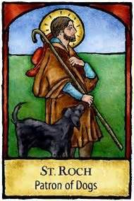 patron of dogs roch patron of dogs and pilgrims saints pets