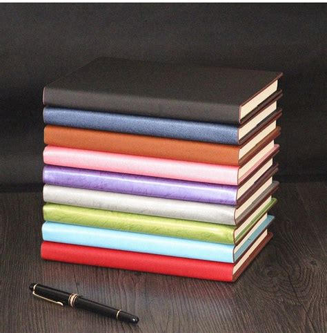 Promotion New Brand Quality Notebook Paper A5 For - faux leahter business notebooks leather a5 notebook high