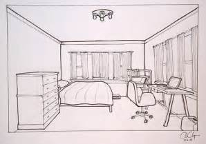 sketch room homework one point perspective room drawing ms chang s