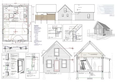 making blueprints how to build a tiny house