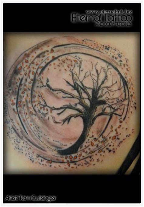 tattoo flower wind leaves tattoos and body art and trees on pinterest