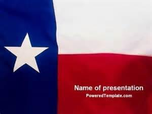flag of texas powerpoint template by poweredtemplate com