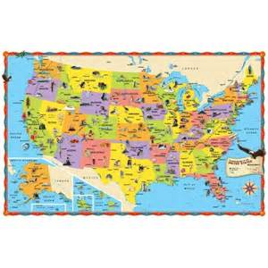 rand mcnally illustrated wall map of the us rand