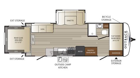 outback rv floor plans travel trailer outback ultra lite 250urs rv cer new and