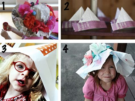 Make Paper Hats - with paper hats the mid week look book modern