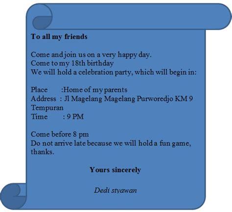membuat undangan ulang tahun dalam bahasa inggris dan artinya contoh surat undangan ulang tahun bahasa inggris miung com