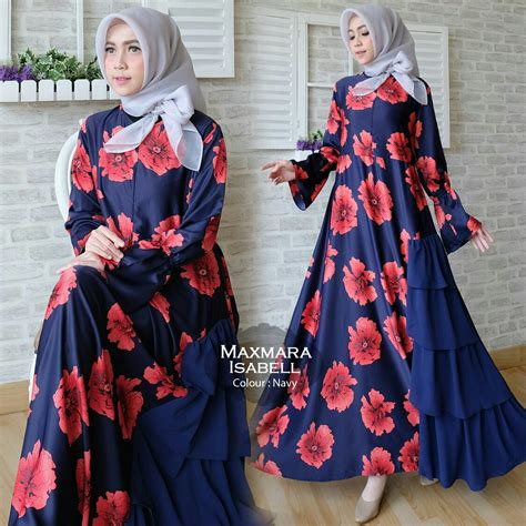 Maxy Dhiya Maxy Murah Maxi Murah Gamis Baju Wanita gamis modern maxmara rempel maxi model terbaru