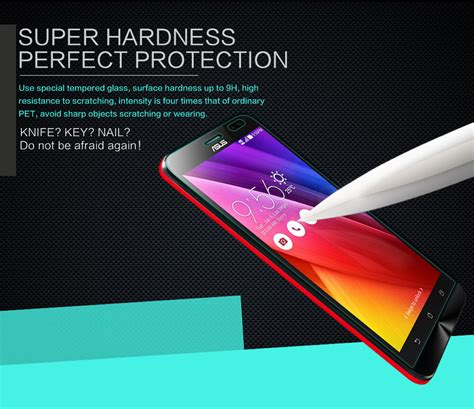 Tempered Glass Zenfone Go Zb452kg nillkin amazing h tempered glass screen protector for asus