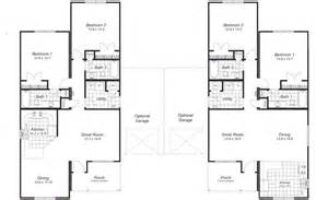 Duplex Building Plans Gallery For Gt Duplex Floor Plans With Garage