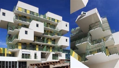 sustainable apartment design koz completes 28 green literally and yellow stacked