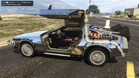 Mod Gta 5 Delorean | back to the future delorean time machine 3 car pack