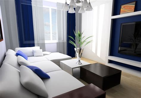 blue and white living room ideas living room interior design white sofa blue backdrop