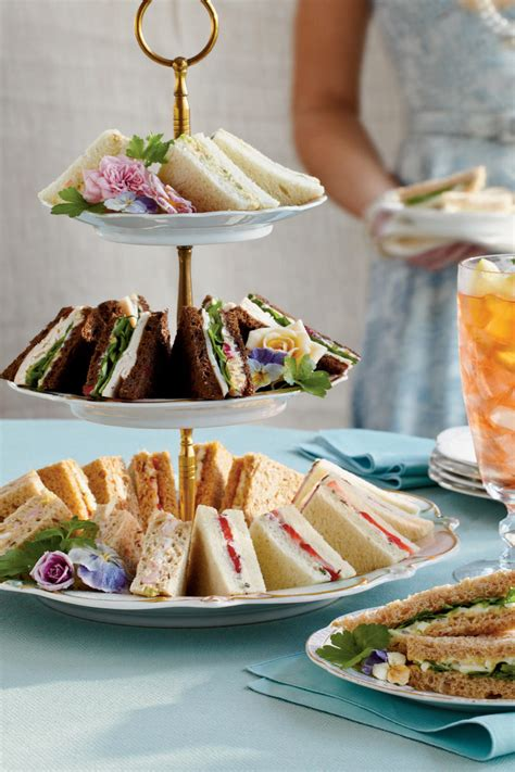 recipes for bridal shower luncheon easy tea sandwiches southern living