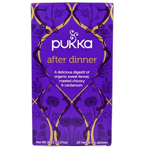 Richoco Nabati Combo 1 Sachet pukka herbs after dinner 20 herbal tea sachets 1 27 oz 36 g iherb