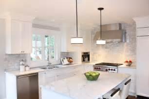 White Kitchen With Backsplash For The Home On Pinterest Herringbone Backsplash