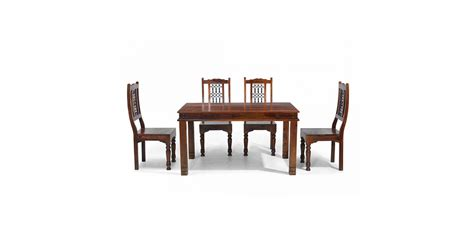 Chunky Dining Table And Chairs Jali Sheesham 140 Cm Chunky Dining Table And 4 Chairs Lifestyle Furniture Uk