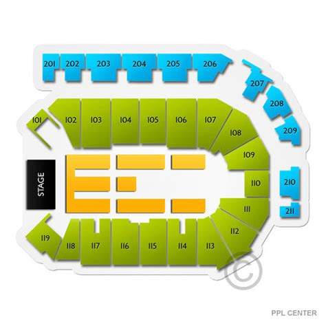 layout of valley view casino center ppl center tickets ppl center seating chart vivid seats