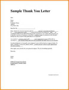 Personal thank you letter samples writing thank you notes thank you