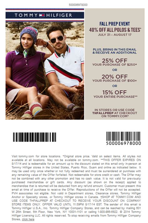 printable tommy hilfiger outlet coupons tommy hilfiger coupon code 2017 2018 best cars reviews