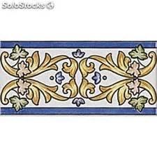 cenefas para zócalos azulejo cenefa moldura y listelo de gres decorado a mano