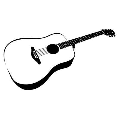 hand verfolgt schwarz amp wei 223 e gitarre vektorgrafik