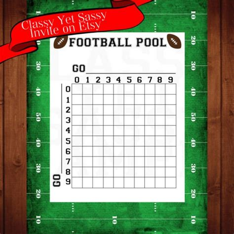 football square board template football pool template 50 squares spreadsheets