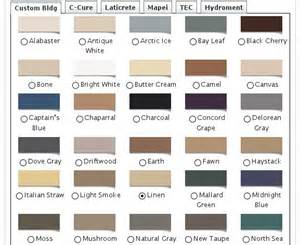 how to grout color hydroment grout colors chart images