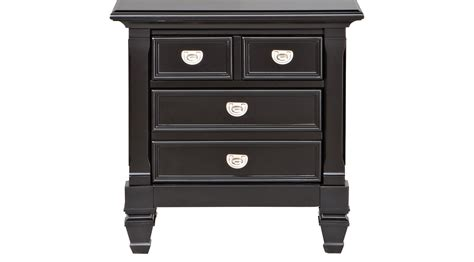 Black Nightstands by Belmar Black Nightstand