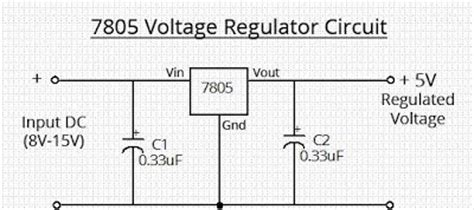 diagram ingram simple 7805 voltage regulator circuit
