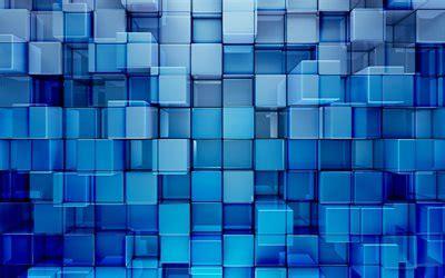 wallpapers cubes art blue background  art