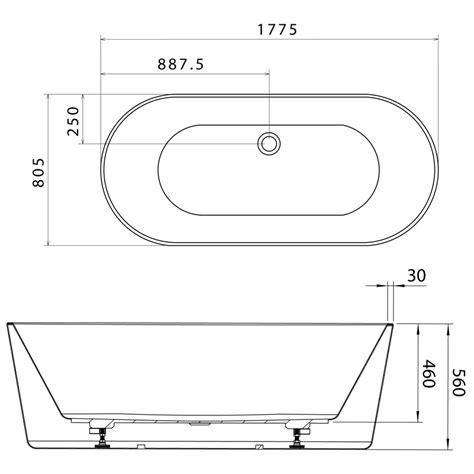freestanding bathtub dimensions caroma aura 1800 freestanding bath bunnings warehouse