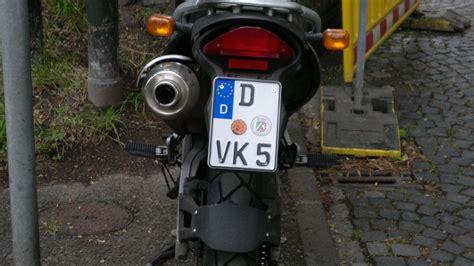 Motorrad Stammtisch D Sseldorf by Motorradkennzeichen Schmaler Als 18 Cm Biker Stammtisch