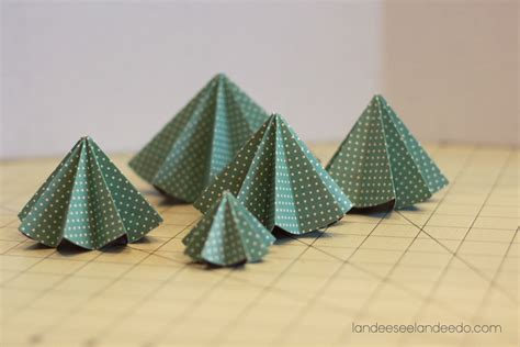 Folding Paper Trees - festival of trees folded paper trees landeelu