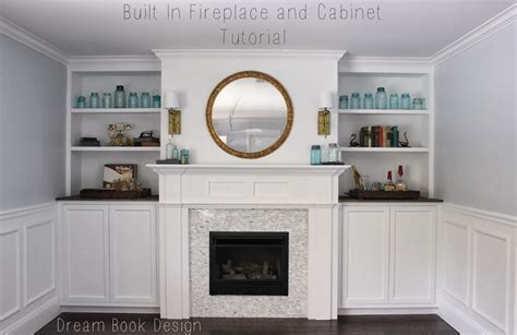 fireplace built in cabinets built in fireplace and cabinets tutorial book design