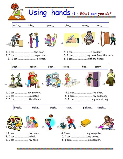 What Can You Do using what can you do interactive worksheet