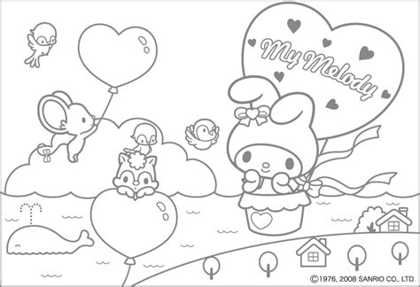 coloring page my melody photo 2346355 fanpop