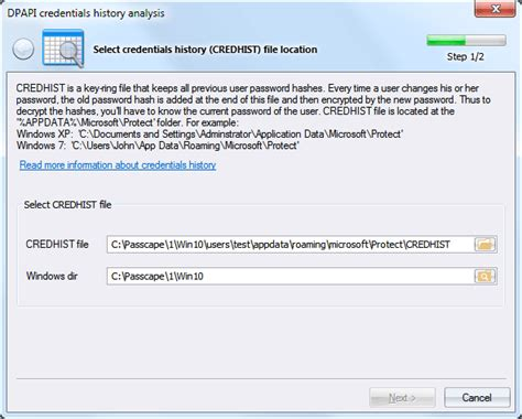 windows reset password history credential history credhist ahalysis