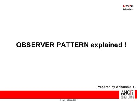 observer pattern in net design patterns observer pattern