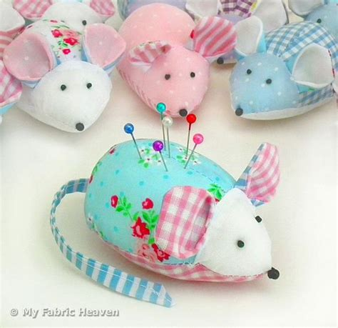 pattern for a fabric mouse fabric mouse pin cushion craft sewing pattern full