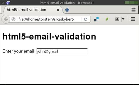 html pattern email validation html5 input email